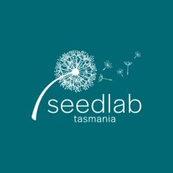 Seedlab Tasmania logo reverse